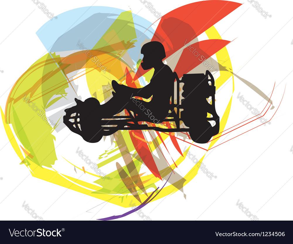 Kart race vector | Price: 1 Credit (USD $1)