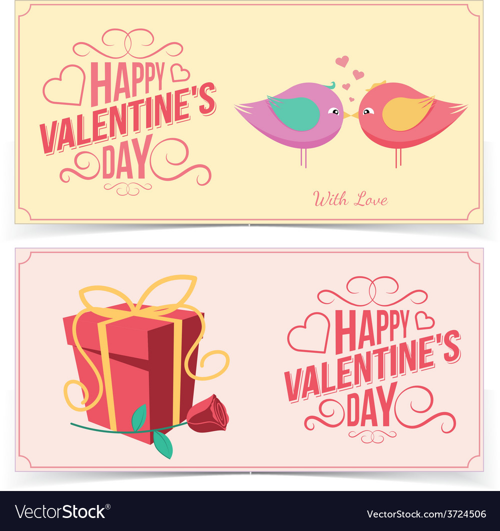 Saint valentine day banners vector | Price: 1 Credit (USD $1)