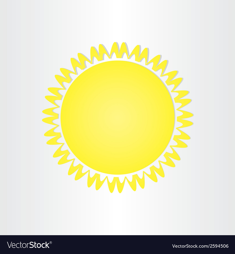 Sun energy solar button design vector | Price: 1 Credit (USD $1)