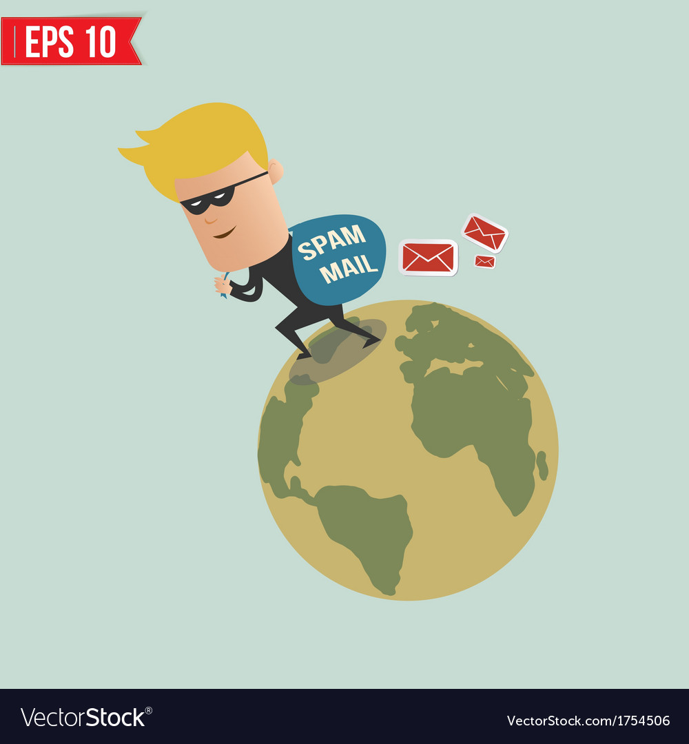 Thief and spam mail - - eps10 vector | Price: 1 Credit (USD $1)