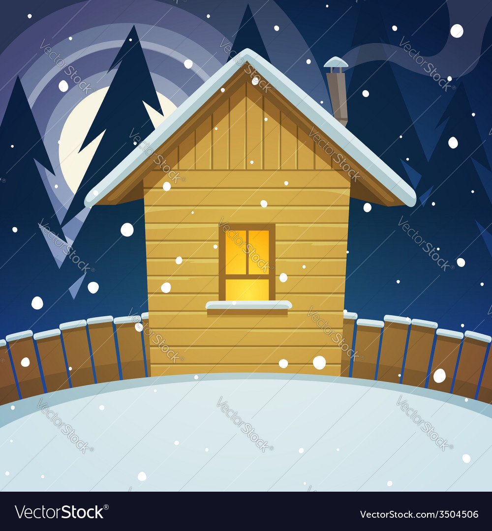Winter house vector | Price: 3 Credit (USD $3)