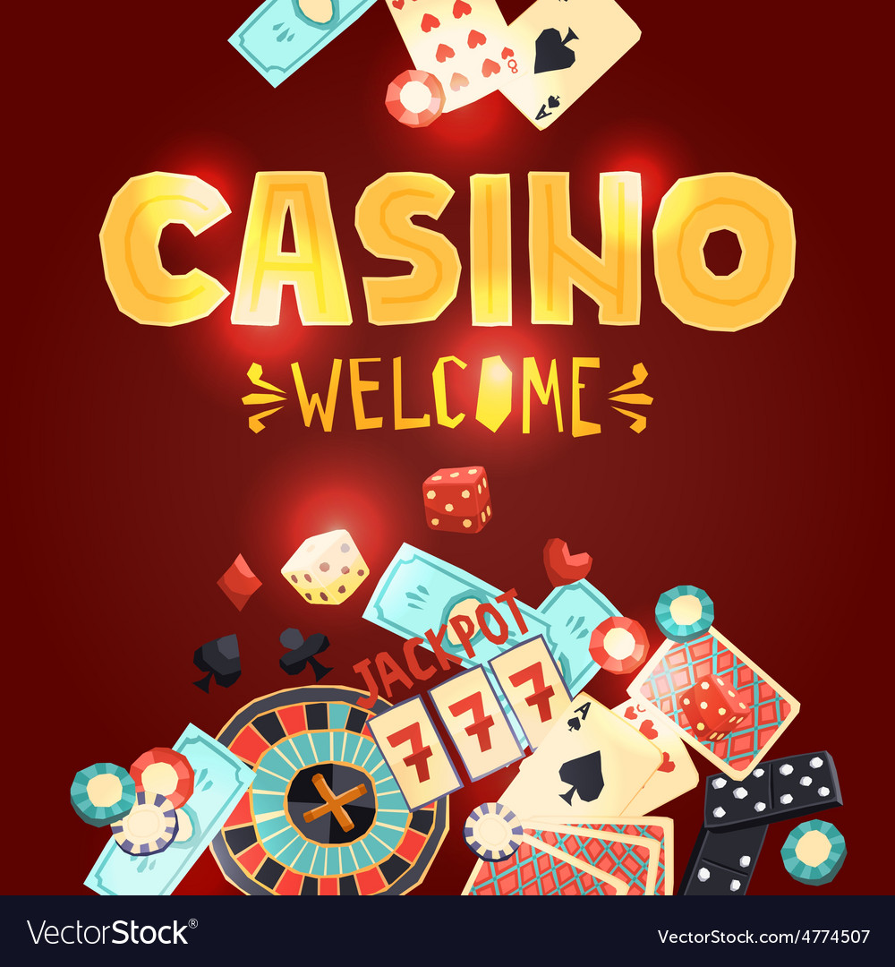 Casino gambling poster vector | Price: 3 Credit (USD $3)
