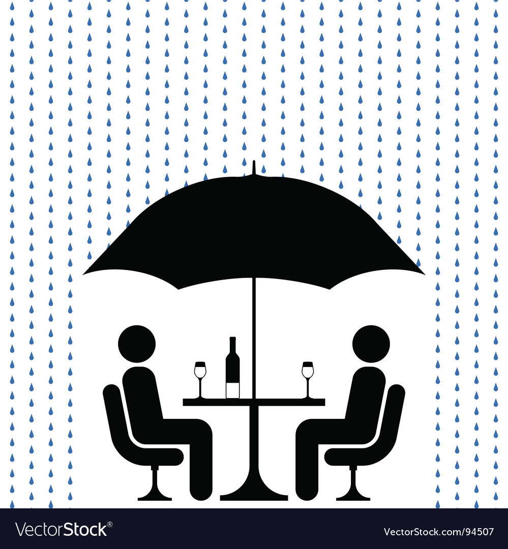 Cocktails in rain vector | Price: 1 Credit (USD $1)