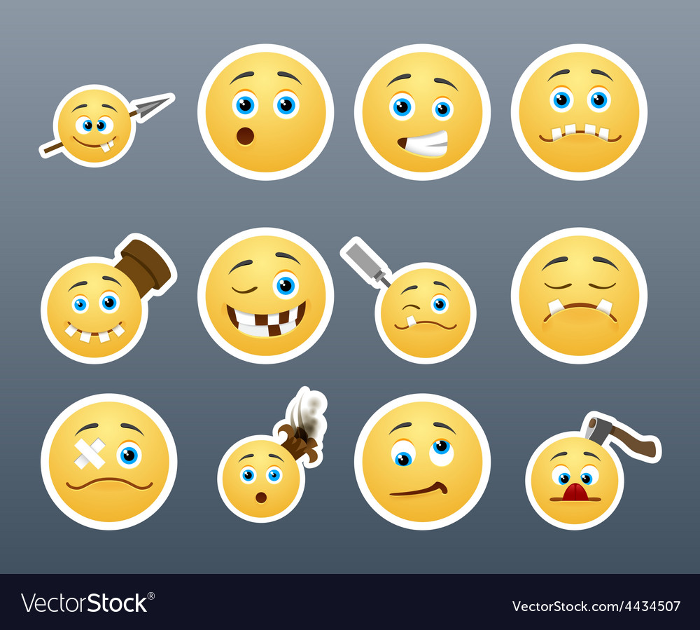 Crazy stickers vector | Price: 1 Credit (USD $1)