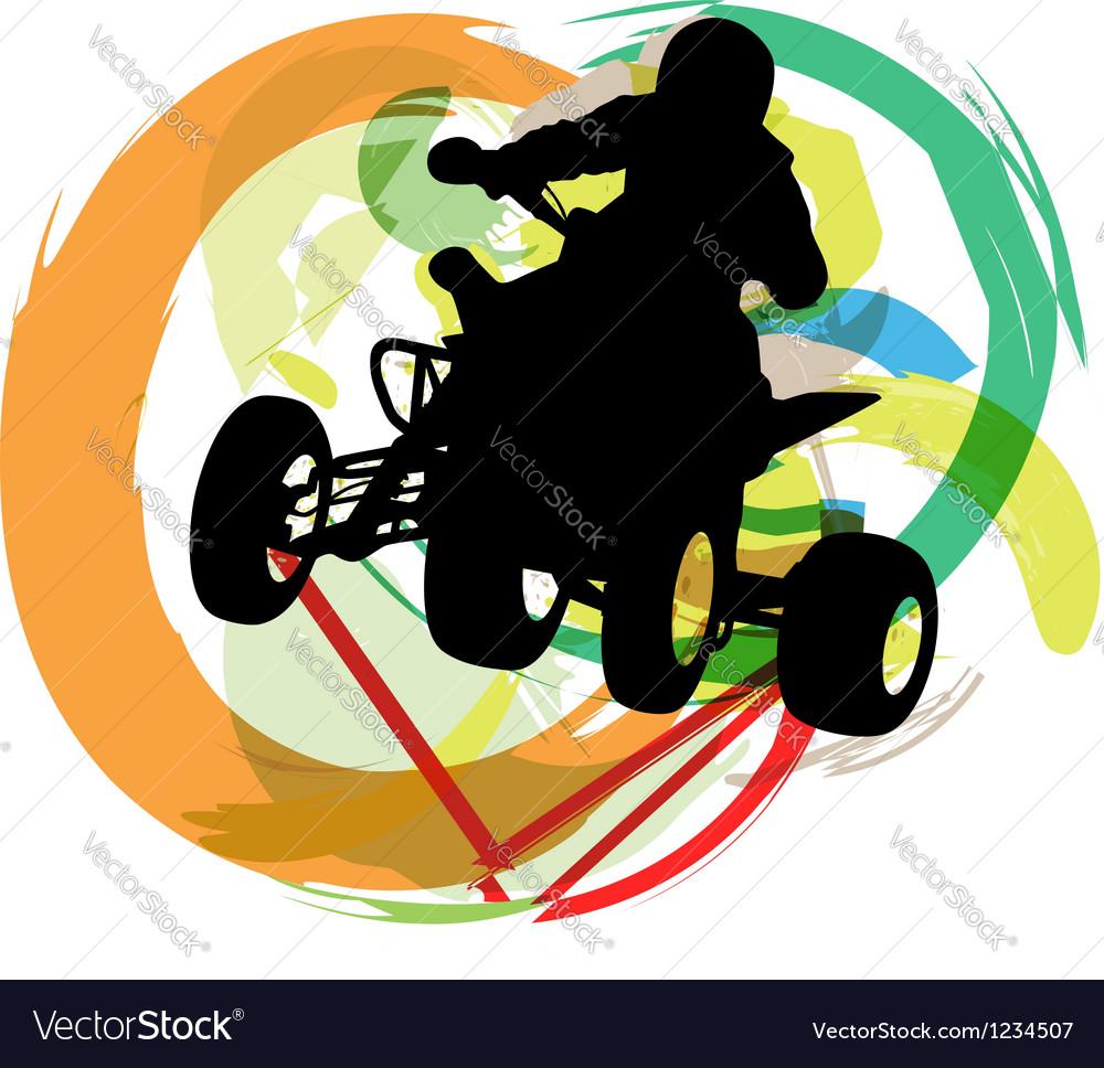 Sportsman riding quad bike vector | Price: 1 Credit (USD $1)