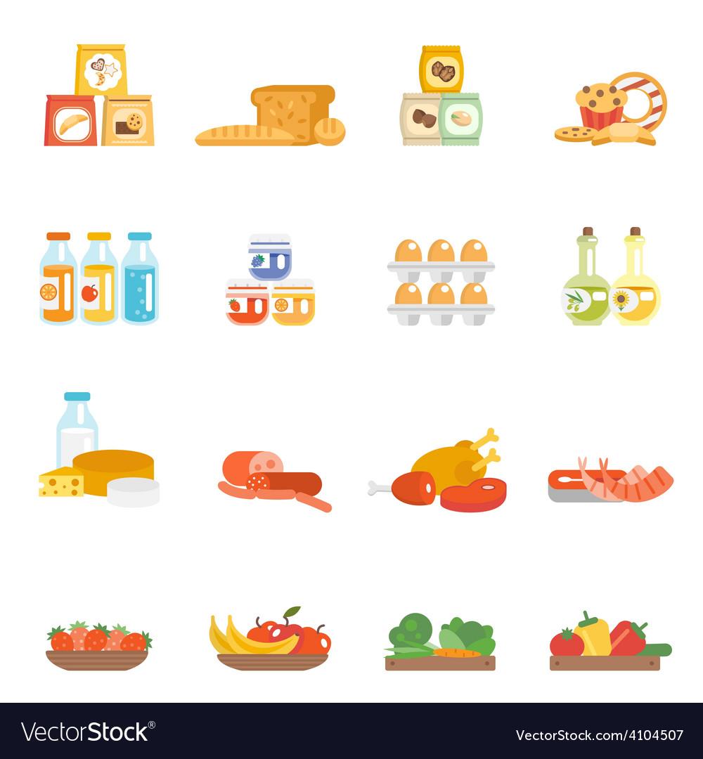 Supermarket food set vector | Price: 1 Credit (USD $1)