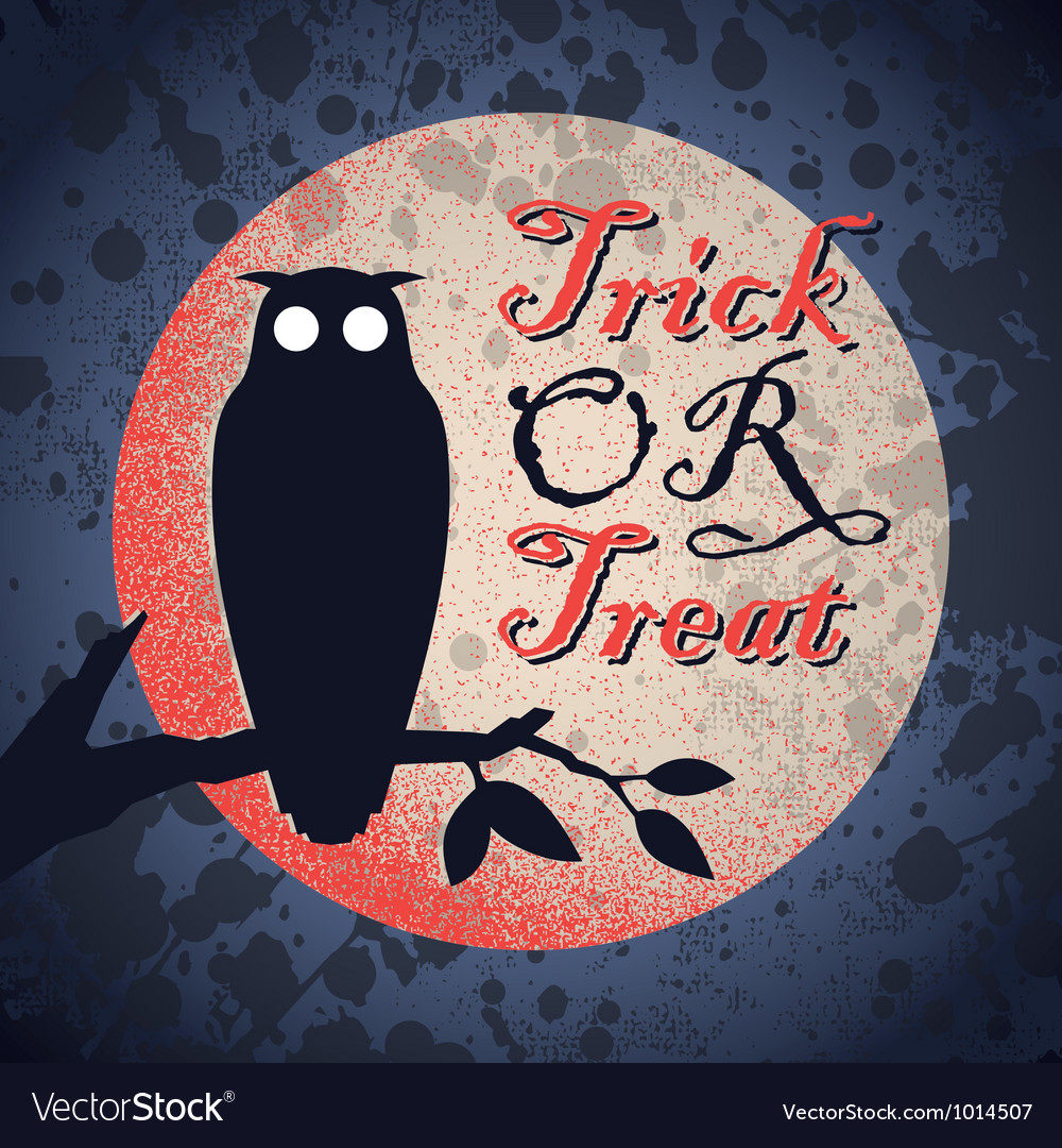 Vintage grungy halloween design vector | Price: 1 Credit (USD $1)