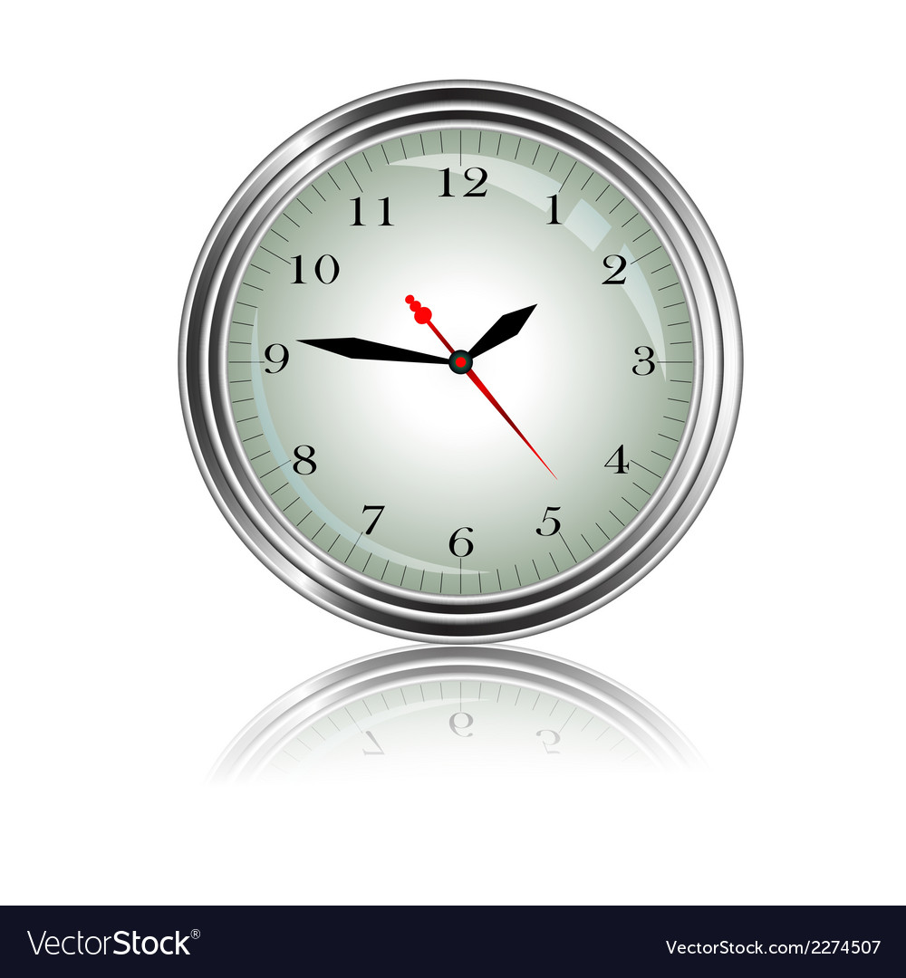Wall clock for you design vector | Price: 1 Credit (USD $1)