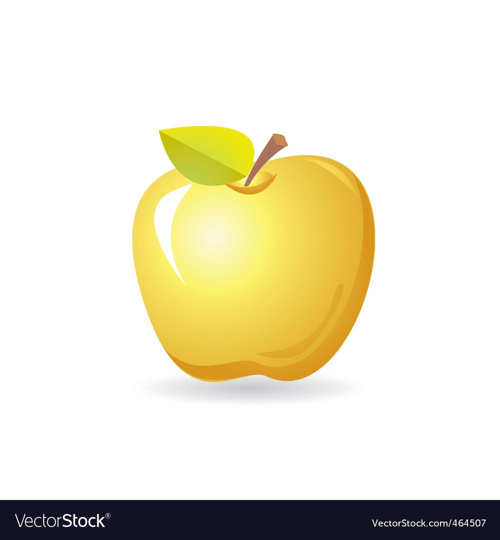 Yellow apple vector