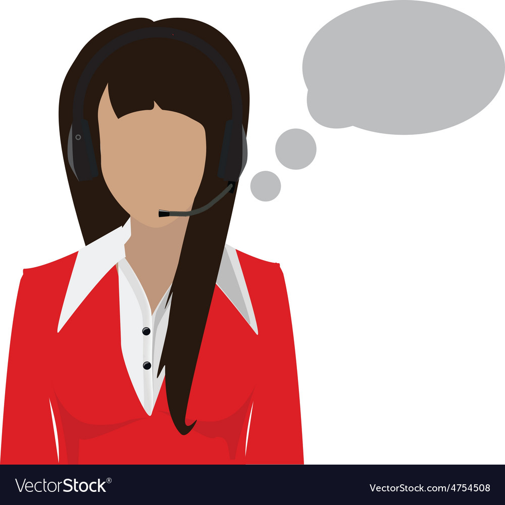 Female call center avatar vector | Price: 1 Credit (USD $1)