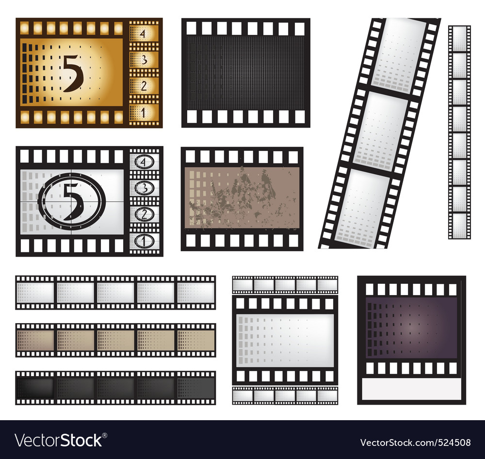 Film strip set vector | Price: 1 Credit (USD $1)