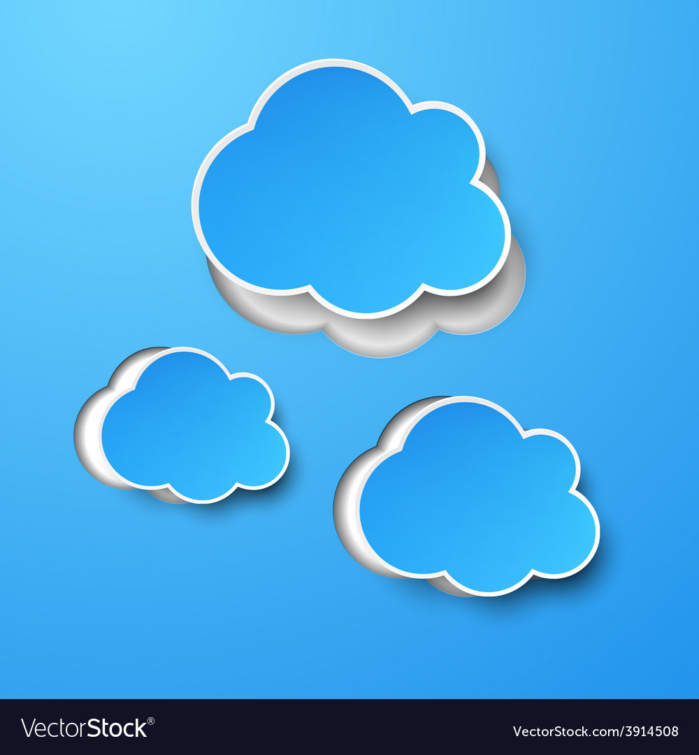 Paper blue clouds vector | Price: 1 Credit (USD $1)