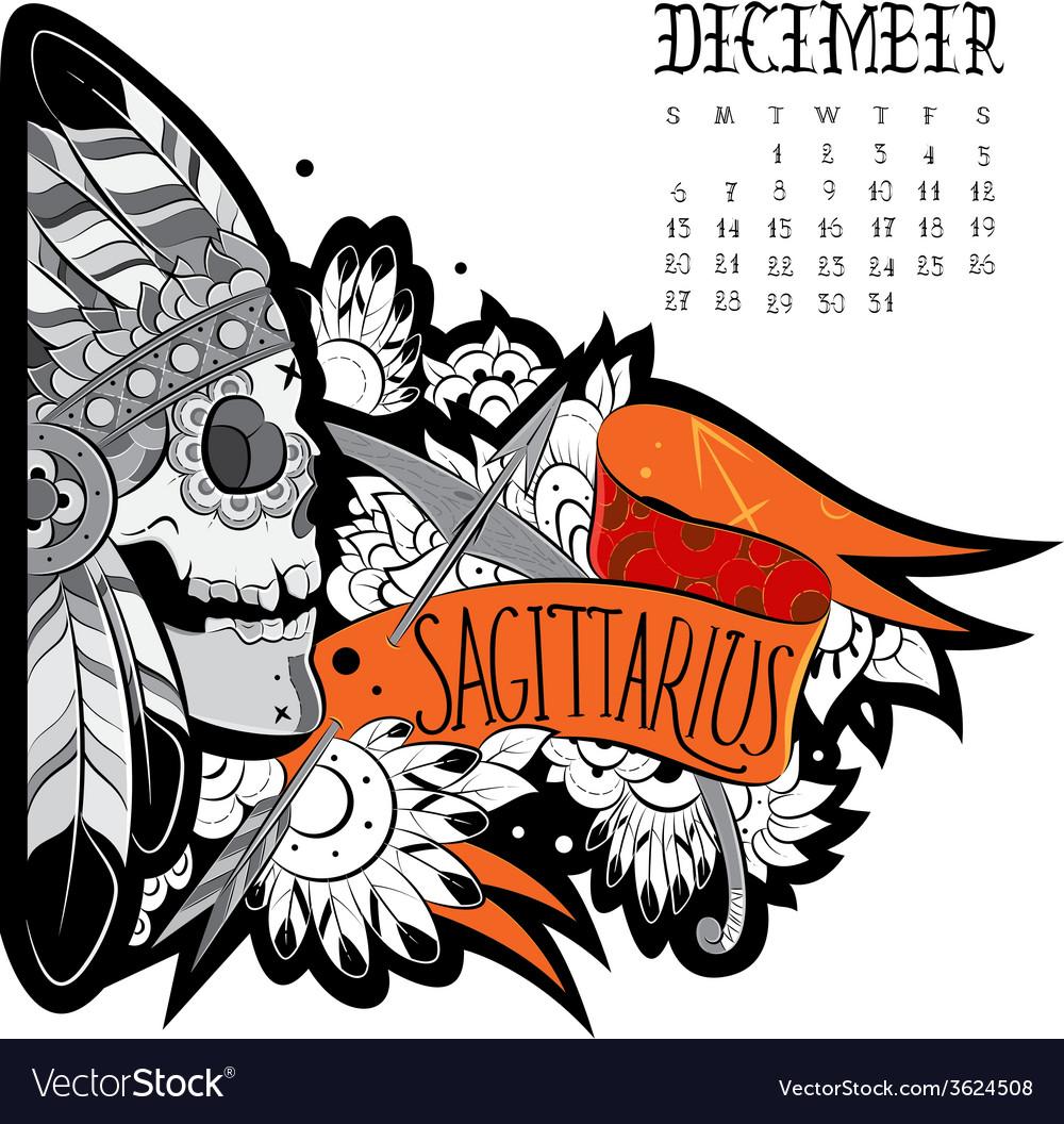 Sagittarius tattoo vector | Price: 1 Credit (USD $1)