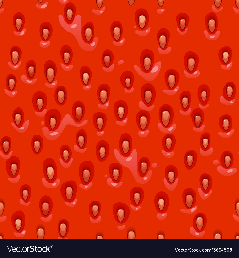 Seamless pattern of cartoon style strawberries vector | Price: 1 Credit (USD $1)
