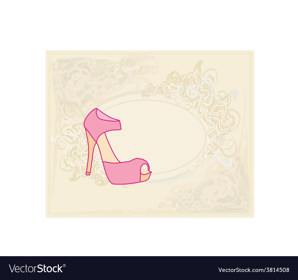 Shoes vintage poster vector | Price: 1 Credit (USD $1)