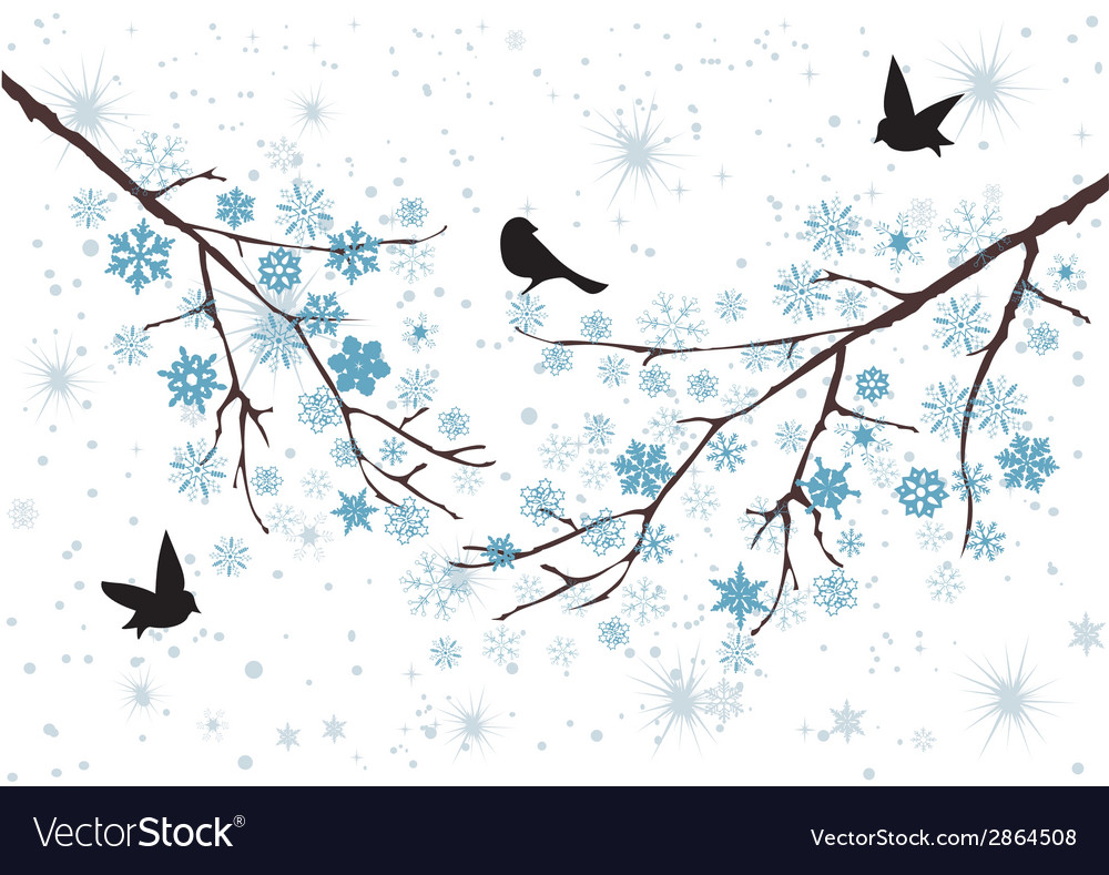 Snow birds vector | Price: 1 Credit (USD $1)