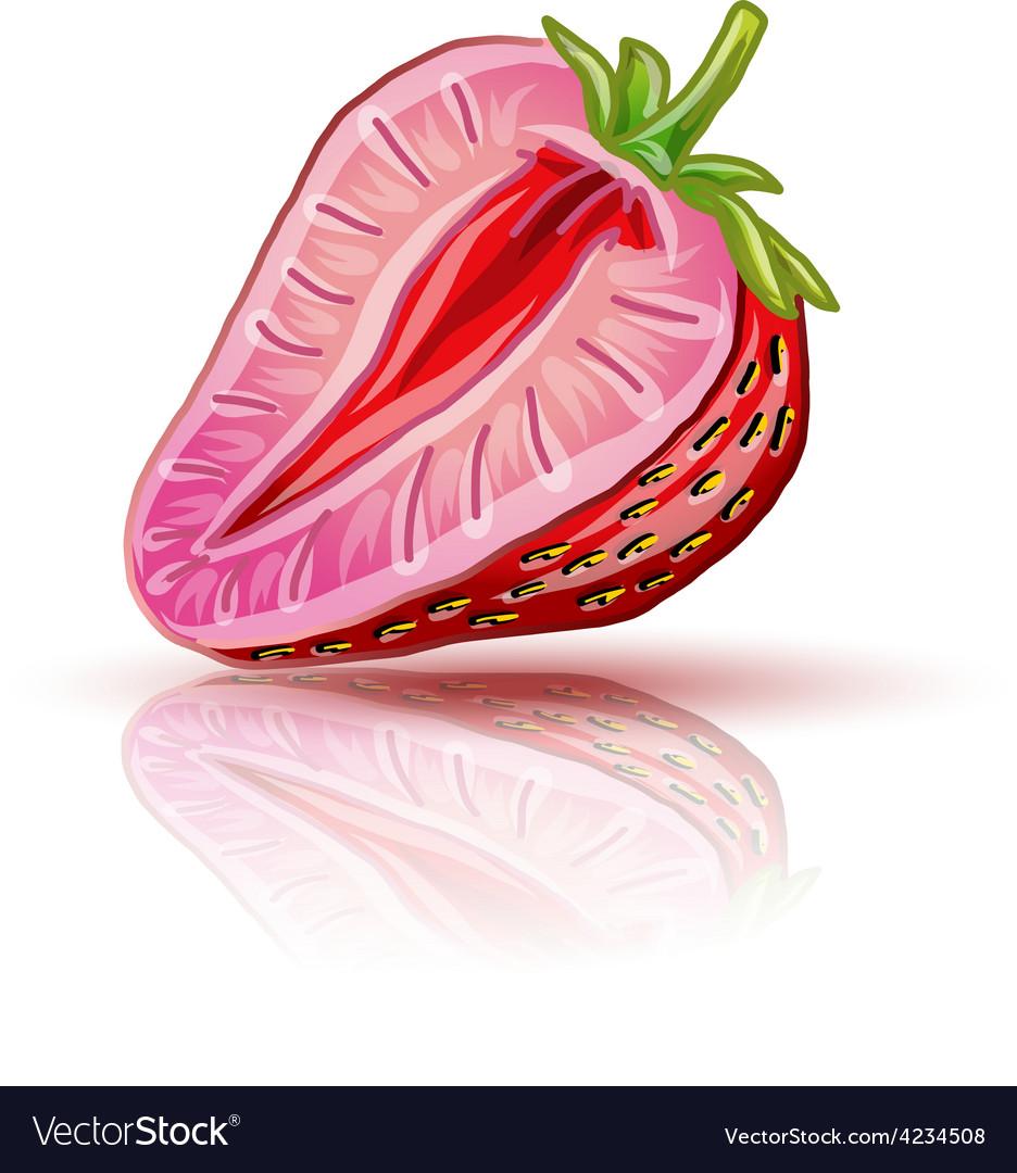 Strawberry piece vector | Price: 1 Credit (USD $1)