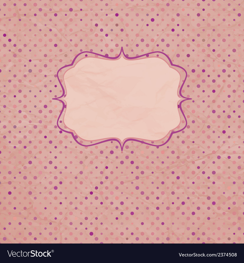 Vintage polka dot card and also includes eps 8 vector | Price: 1 Credit (USD $1)