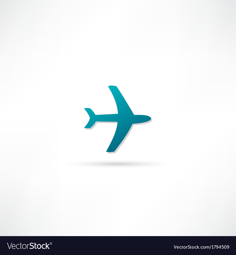 Airplane symbol vector | Price: 1 Credit (USD $1)