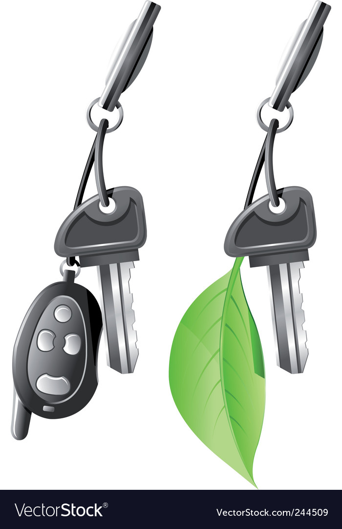 Electric car key vector | Price: 3 Credit (USD $3)