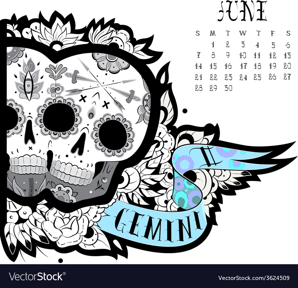 Gemini tattoo vector | Price: 1 Credit (USD $1)