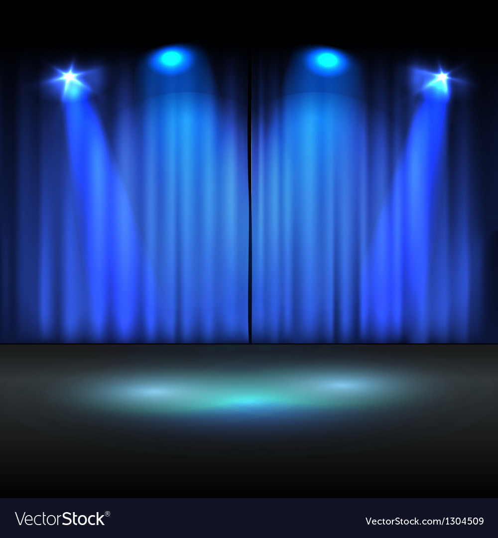 Illuminated stage template vector | Price: 1 Credit (USD $1)