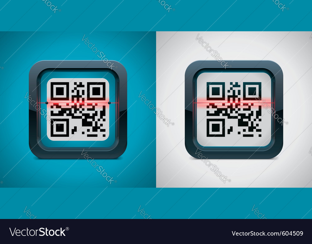 Qr code scanner icon vector | Price: 3 Credit (USD $3)