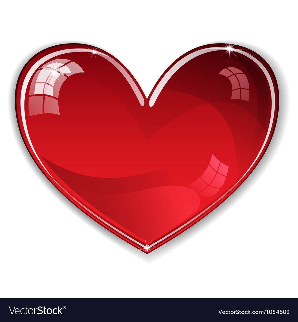 Red shiny heart vector | Price: 1 Credit (USD $1)