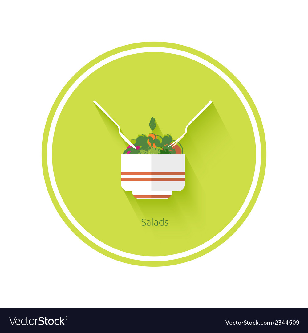 Salad icon vector | Price: 1 Credit (USD $1)