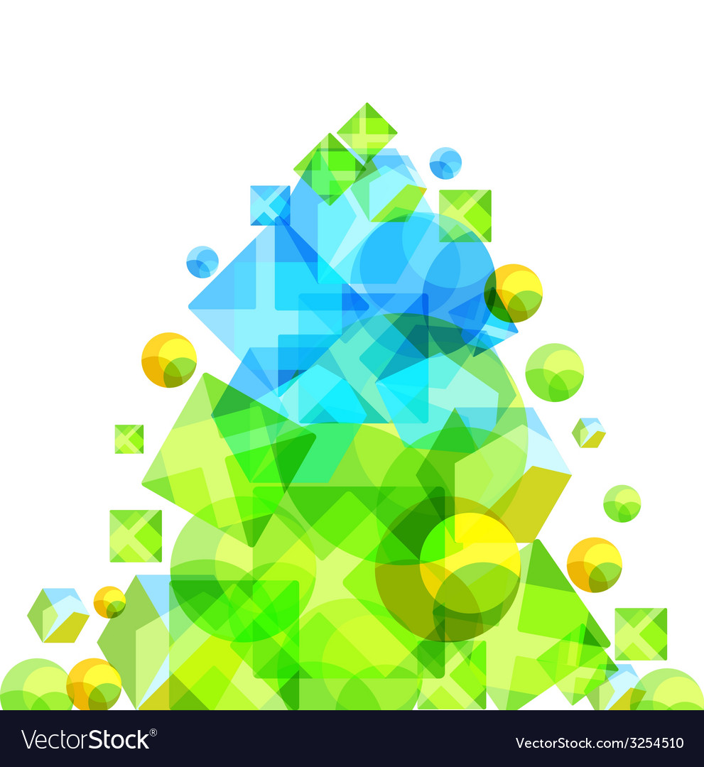 Abstract green pine vector | Price: 1 Credit (USD $1)