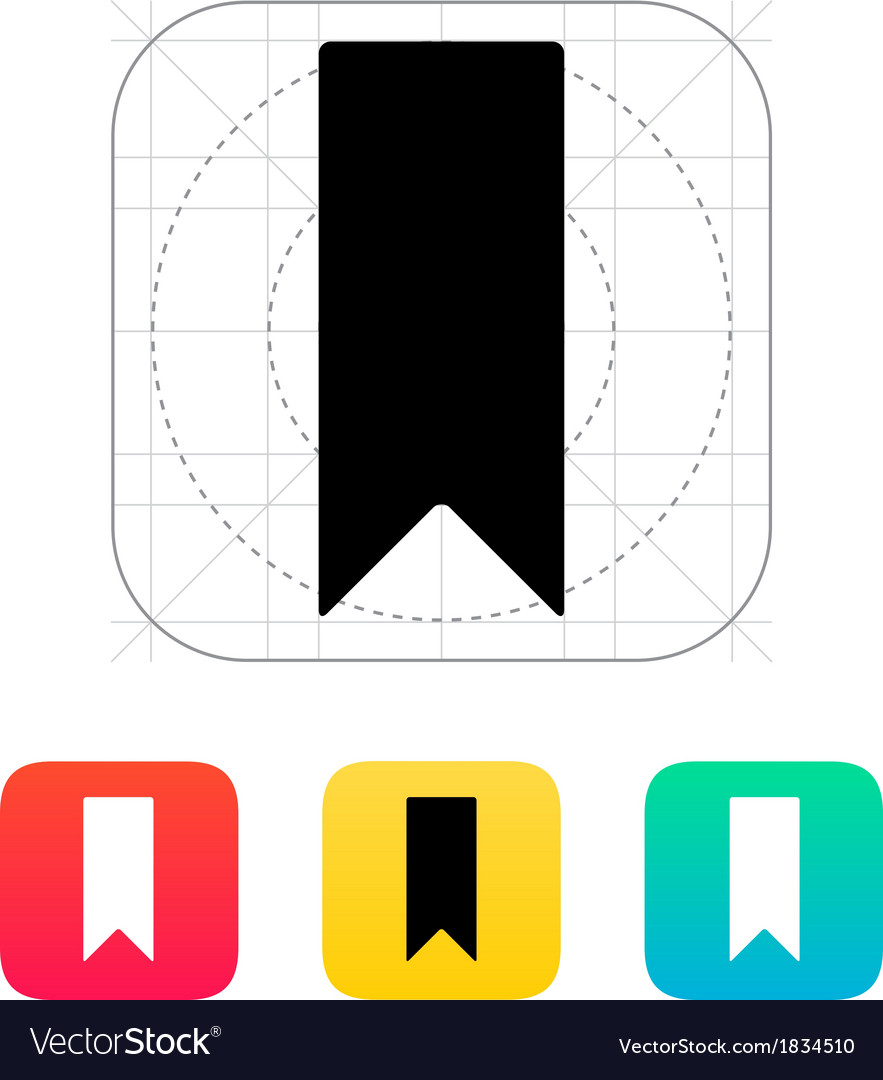 Bookmark icon vector | Price: 1 Credit (USD $1)