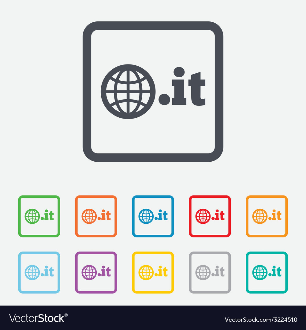 Domain it sign icon top-level internet domain vector | Price: 1 Credit (USD $1)