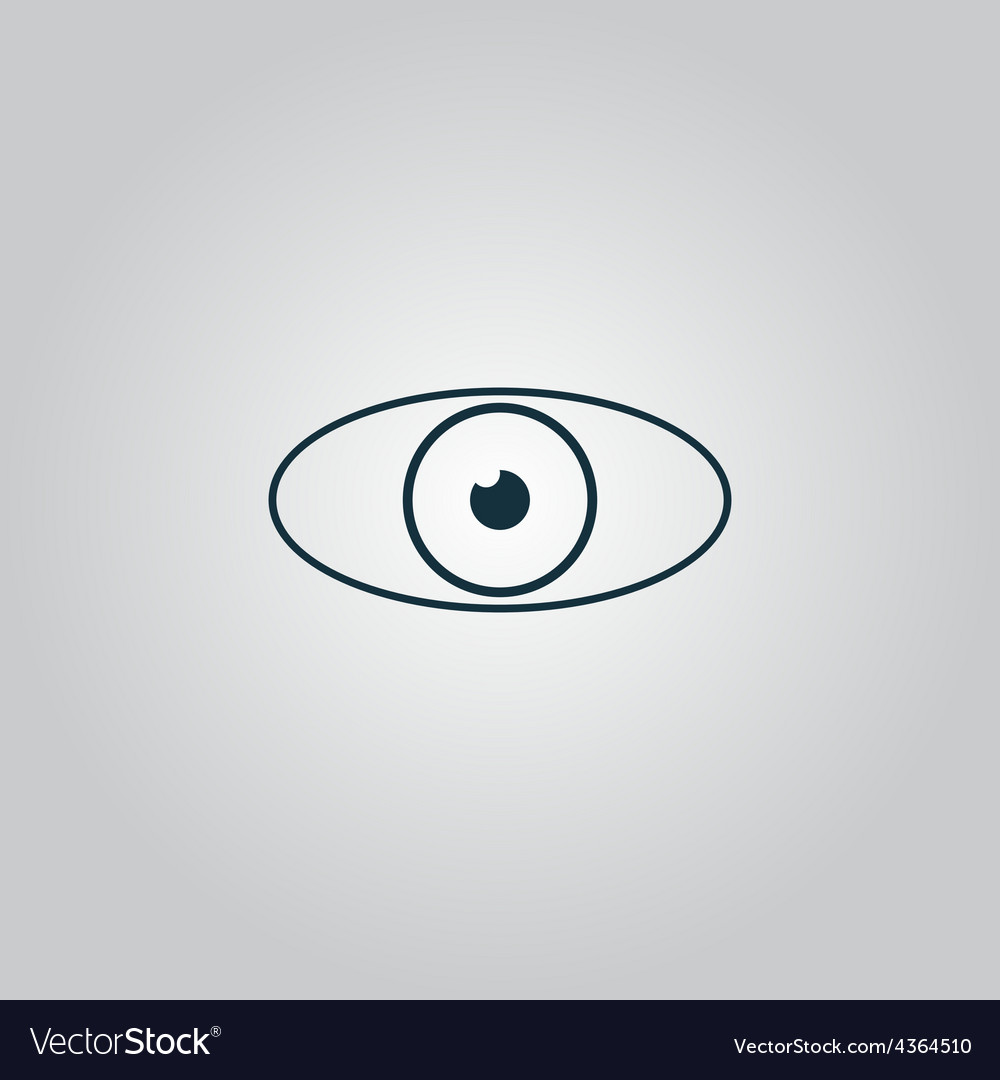 Eye icon flat design style vector | Price: 1 Credit (USD $1)