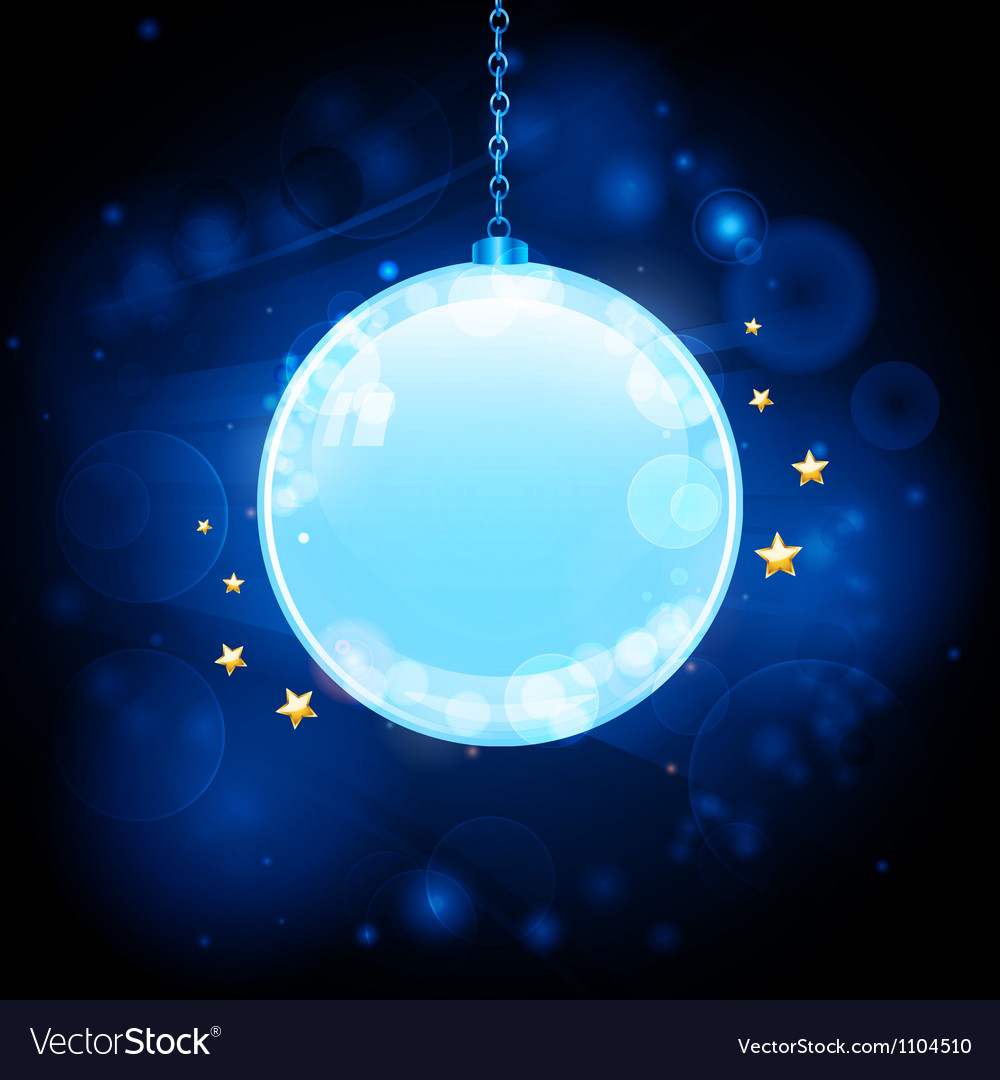 Glow blue christmas bauble background vector | Price: 1 Credit (USD $1)
