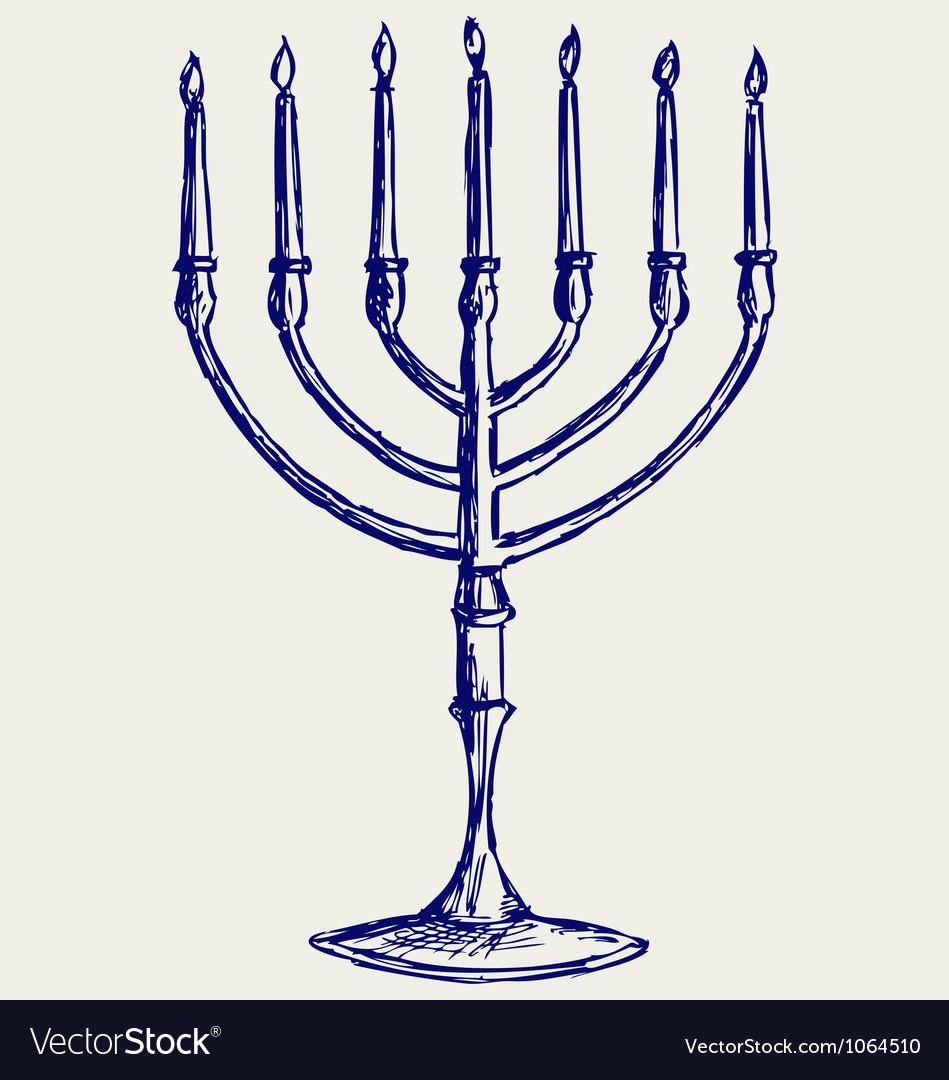 Hanukkah menorah vector | Price: 1 Credit (USD $1)