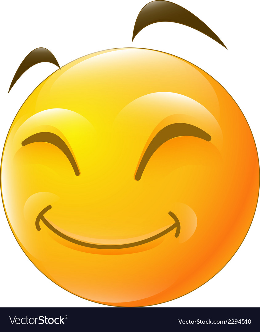 Happy smiley face vector | Price: 1 Credit (USD $1)