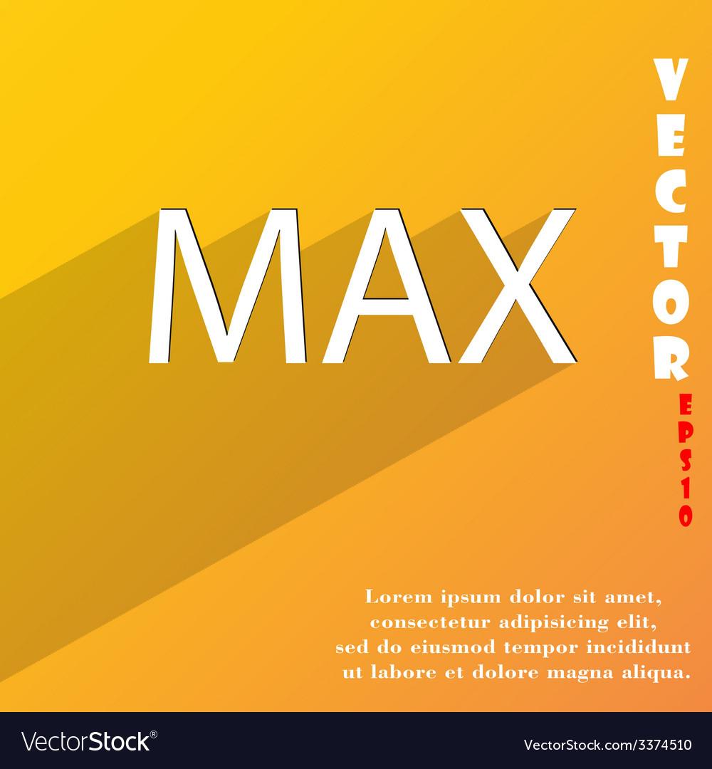 Maximum icon symbol flat modern web design with vector | Price: 1 Credit (USD $1)