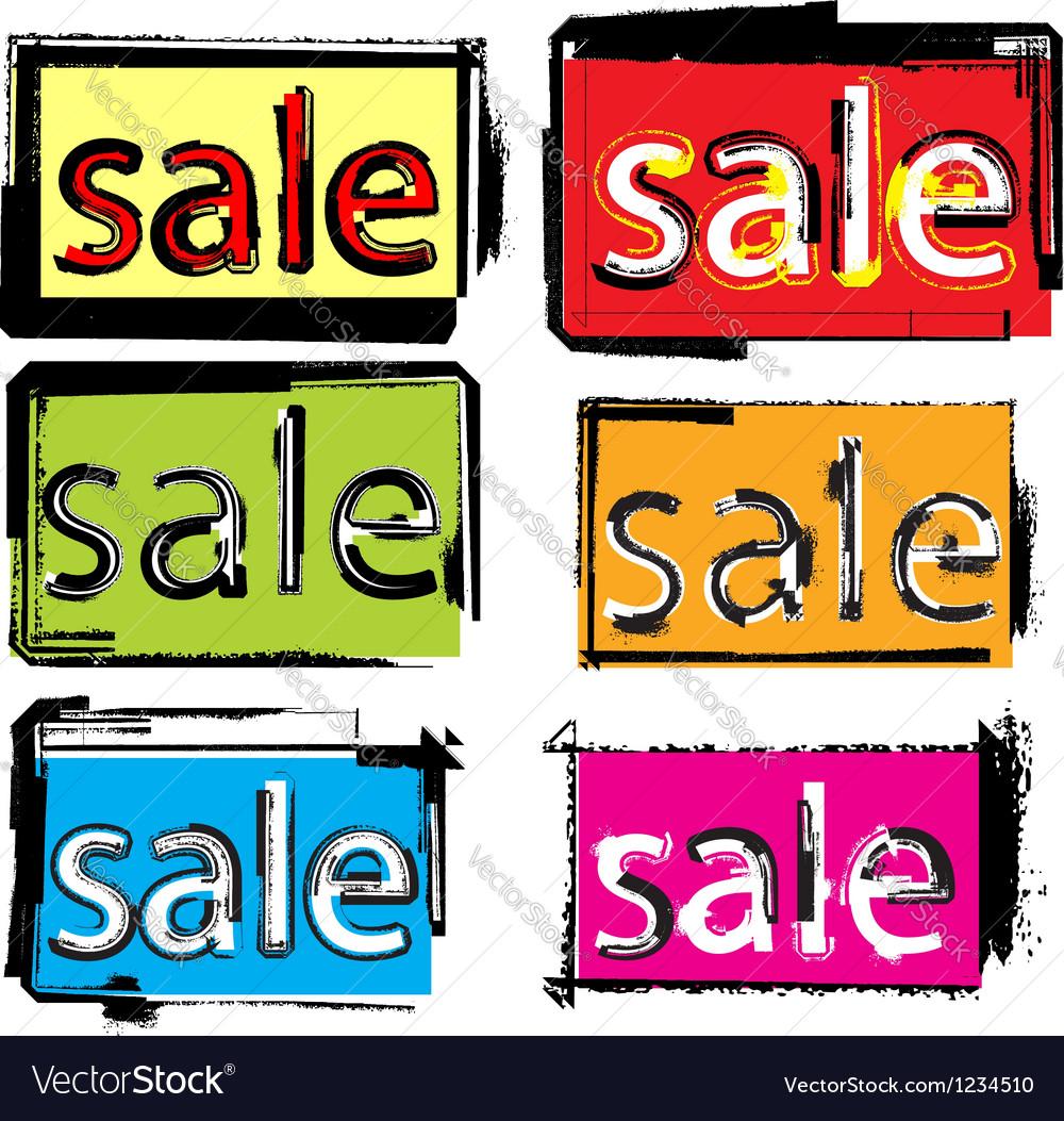 Sale text vector | Price: 1 Credit (USD $1)
