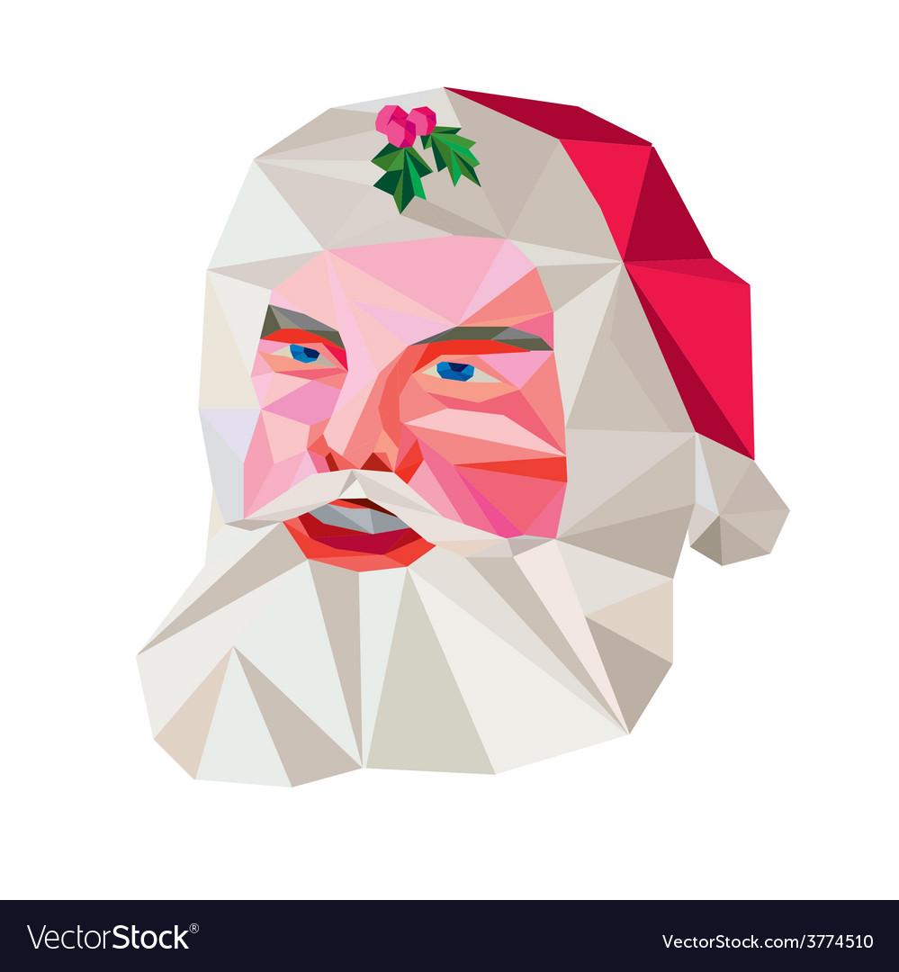 Santa claus father christmas low polygon vector   Price: 1 Credit (USD $1)