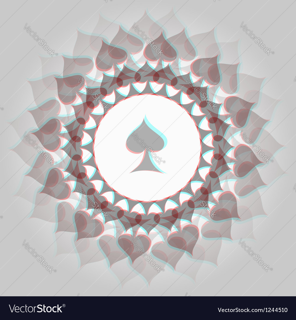 Spades 3d background vector | Price: 1 Credit (USD $1)