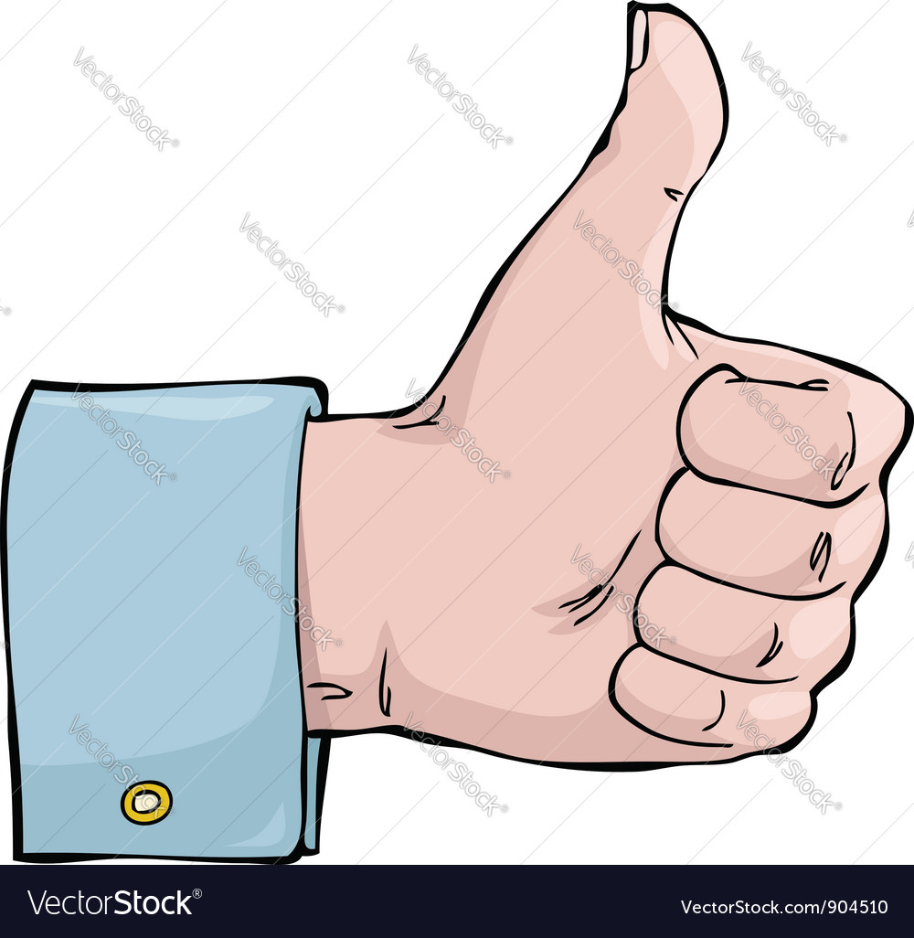 Thumb up vector | Price: 1 Credit (USD $1)