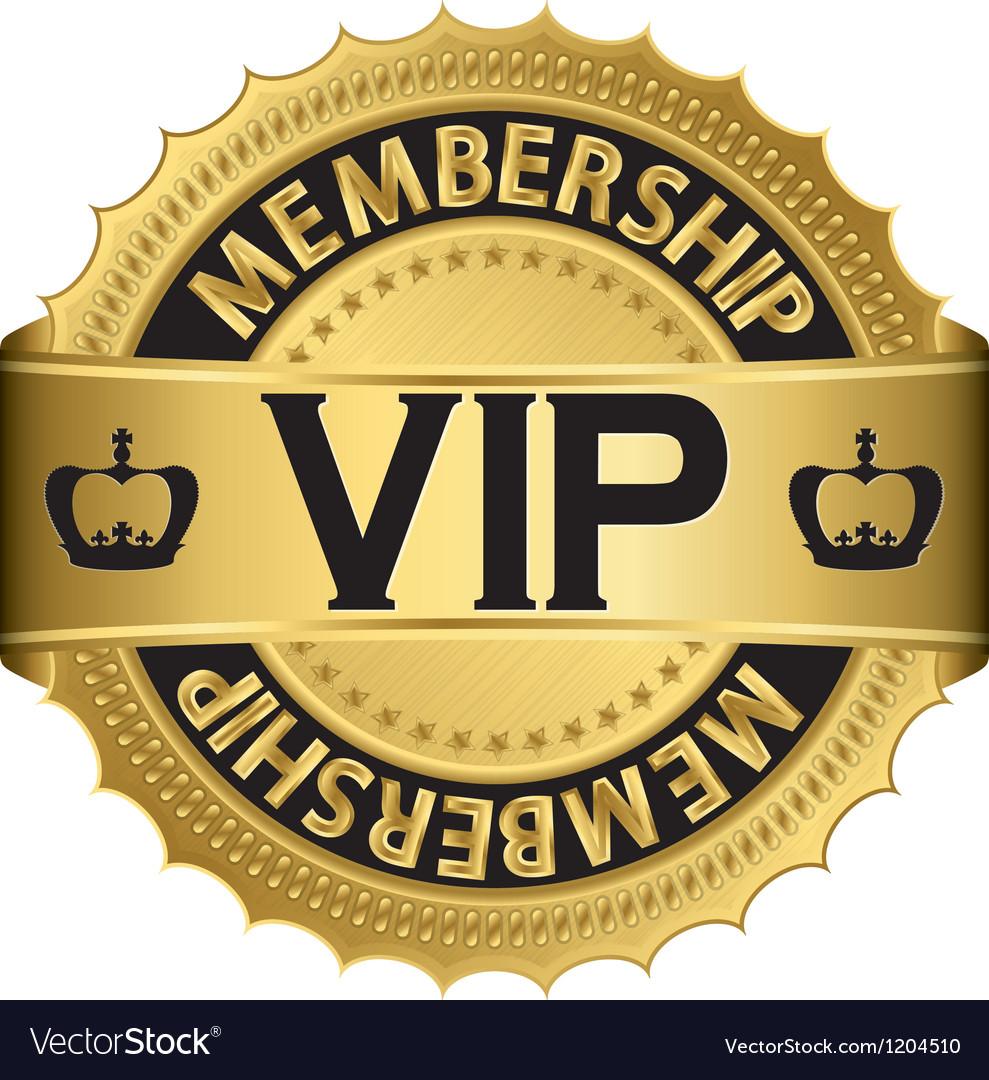 Vip membership golden label vector | Price: 1 Credit (USD $1)