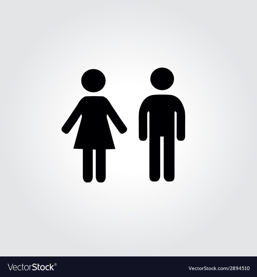 Woman and man icons vector | Price: 1 Credit (USD $1)