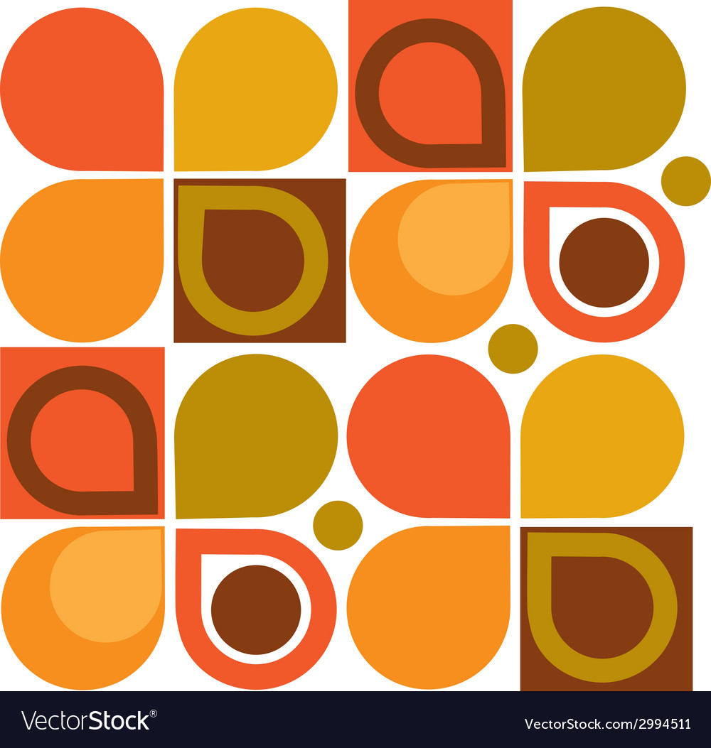 Abstract retro geometric seamless pattern vector | Price: 1 Credit (USD $1)