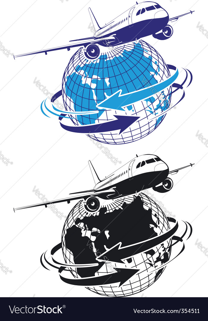 Airliner as a logo vector | Price: 1 Credit (USD $1)