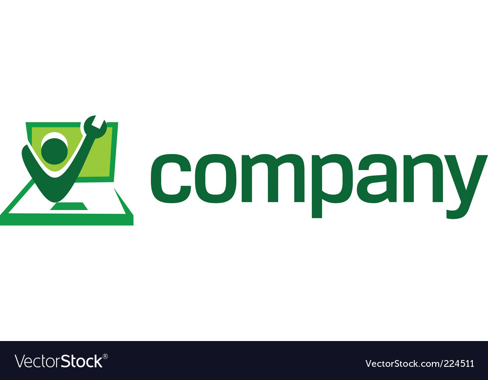 Computer repair logo vector | Price: 1 Credit (USD $1)