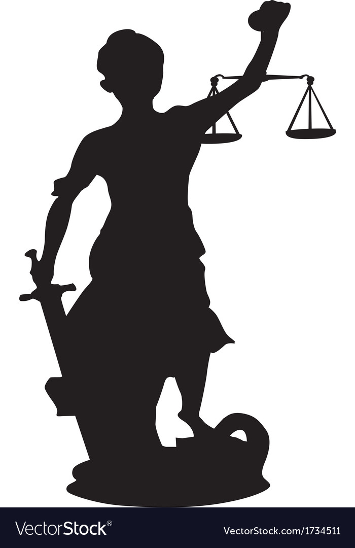 Femida themis silhouette a goddess of justice vector | Price: 1 Credit (USD $1)