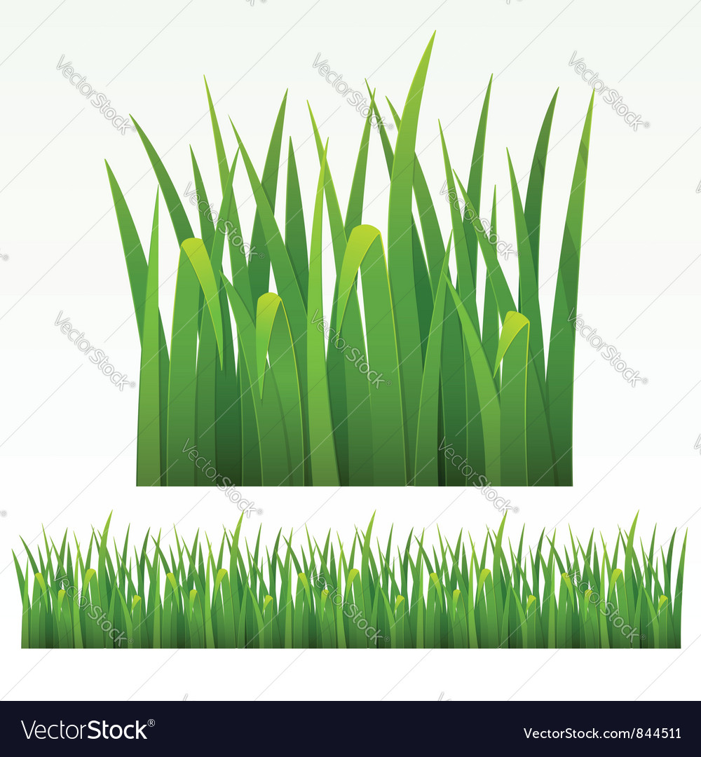 Grass green border vector | Price: 1 Credit (USD $1)