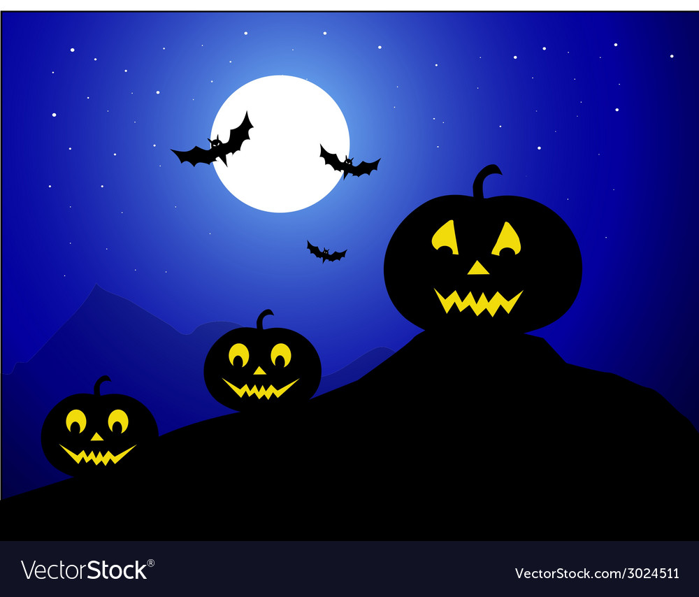 Halloween night - vector | Price: 1 Credit (USD $1)