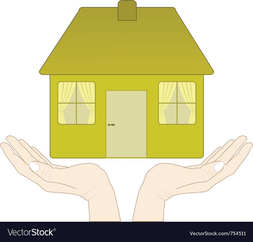 House in the hands vector | Price: 1 Credit (USD $1)